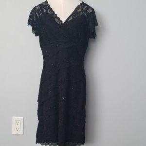 Black Marina lace dress